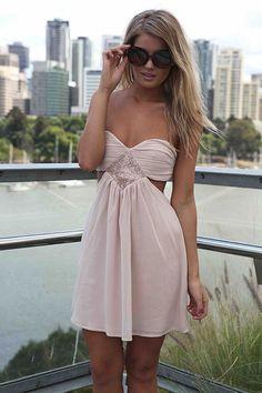 STRAPLESS CUTOUT DRESS , DRESSES,,Minis Australia, Queensland, Brisbane