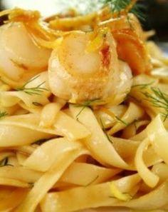 Seafood Pasta in Lemon Butter Sauce
