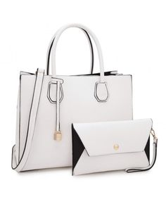 b269754e0d19 Fashion Designer Women Satchel Top handle Handbag with Free wallet set for  Women - 7661-white - C212NRS23XY