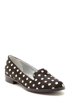 Polka Dot Print Smoker Loafer