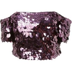 Moda Operandi (21.293.825 VND) ❤ liked on Polyvore featuring tops, sally lapointe, off the shoulder sequin top, sequin bustier, sequin bustier top, purple bustier top and crop tops