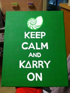 Keep calm and Carry on Kappa Delta Canvas by MyCraftingBoutique