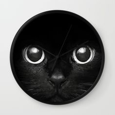 Black+Cat+Wall+Clock+by+Maioriz+Home+-+$30.00