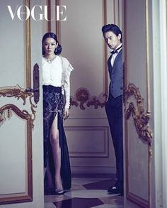 Kim So Yeon and Joo Jin Mo for Vogue. They've paired up in the upcoming new drama Kabi