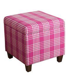 HomePop Azalea Pink Anderson Storage Cube Ottoman