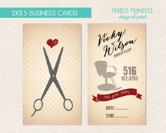 hairstylist printed business cards