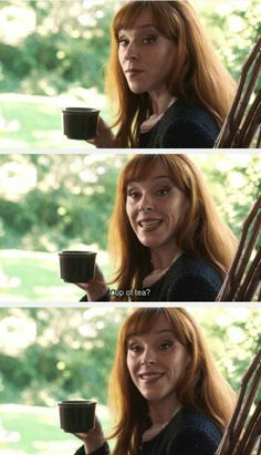 cup of tea? ~ Rowena ... LOL ^_^ #Supernatural - Supernatural 12x03 The Foundry #Rowena #Ruth Connell