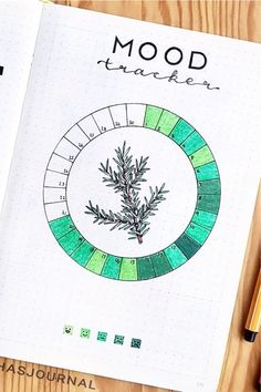 Best Green Themed Bullet Journal Spreads For 2020 - Crazy Laura Looking to add some color to your theme this month? Check out these green bullet journal spreads that will have your bujo looking amazing! Bullet Journal Mood Tracker Ideas, Bullet Journal Paper, Creating A Bullet Journal, Self Care Bullet Journal, Bullet Journal Lettering Ideas, Bullet Journal Notebook, Bullet Journal Aesthetic, Bullet Journal School, Bullet Journal Spread