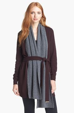 Tory Burch 'Gwen' Cardigan with Scarf available at #Nordstrom