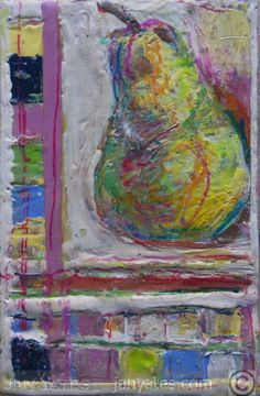 Rubys pear, encaustic on panel, 6x10in, 2012, 325.oo Canadian or US funds. Paypal accepted and shipping available.SOLD