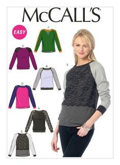 McCall's Pattern - Woman's Plus Size Pullover Shirt, T-Shirt, Sweatshirt, Casual and Super Easy Pattern - Uncut & OOP by NeedleandFootSews on Etsy Plus Size Pullover, Pullover Shirt, Dress Making Patterns, Skirt Patterns, Coat Patterns, Blouse Patterns, Mccalls Sewing Patterns, Jacket Pattern, Sleeve Pattern