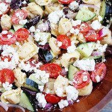 Greek Tortellini Salad Recipe   Two Peas & Their Pod
