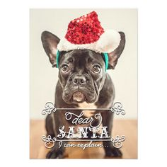 Dear Santa We Can Explain Holidays Photo Cards. $1.90 #Christmasphotocards #holidayphotocards #Christmascards