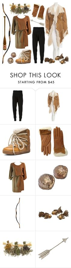 """""""Dragonslayer"""" by curiouslight ❤ liked on Polyvore featuring Donna Karan, Roberto Cavalli, Isabel Marant, UGG Australia, Yves Saint Laurent, Authentic Models, hobbit, TheHobbit, fanset and Bard"""