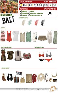 Packing for Bali, Indonesia