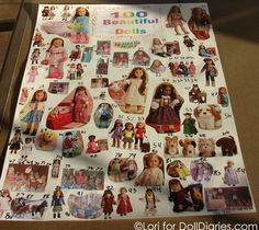Someone made this for the 100th day of school and 100 American Girl pictures are a smart idea.