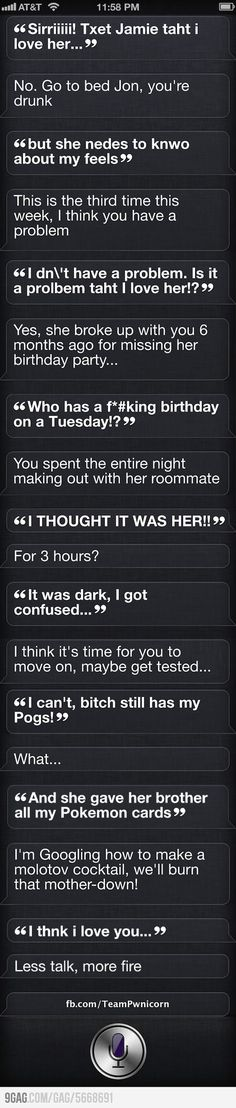 Siri Drunk Text App