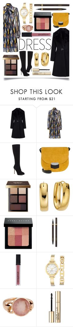 """""""Winter Dresses Under $100"""" by ittie-kittie ❤ liked on Polyvore featuring Jimmy Choo, CÉLINE, Bobbi Brown Cosmetics, Tom Ford, Smashbox, Nine West, Poiray Paris, Smith & Cult, Winter and under100"""