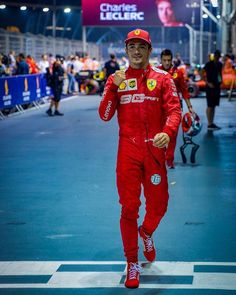 The most unexpected pole 🇸🇬 Very happy, let's focus on the race tomorrow now. Formula 1 Car Racing, Female Race Car Driver, Thing 1, Ferrari F1, F1 Drivers, Formula One, Canada Goose Jackets, Race Cars, Champion