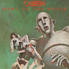 Gerahmtes Poster Queen - News of the World Album Cover East Urban Home Greatest Album Covers, Iconic Album Covers, Rock Album Covers, Classic Album Covers, Music Album Covers, Music Albums, Discografia Queen, Queen Band, Lp Cover