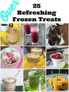Over 25 Frozen Treats via @Dori Falcone #refreshingfrozentreats #perfectforsummer
