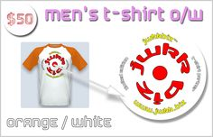 Tiles of The Simpsons as mobile app   Indiegogo MEN'S T-SHIRT - ORANGE and WHITE WITH OUR LOGO JWkkBiz™