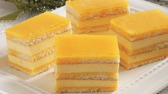 Sunquickové rezy Czech Recipes, Cake Bars, Hungarian Recipes, Sweets Cake, Asian Desserts, Piece Of Cakes, Sweet And Salty, Baked Goods, Sweet Recipes