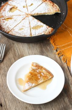 Oven-Baked Coconut Almond Pancake by mysequinedlife #Pancake #Coconut #Almond #Healthy