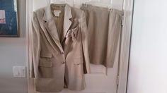 Escada Taupe Skirt Suit - Size L  | eBay