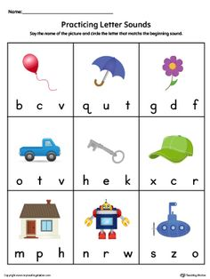 FREE Beginning Sounds Letter Worksheets for Early Learners ...