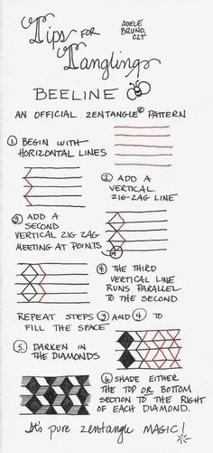 Tickled To Tangle: Tips for Tangling Beeline (Adele Bruno)