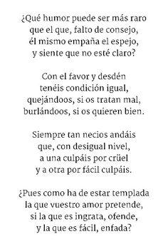 REDONDILLAS  - Poema 2/4 Sor Juana Inés de la Cruz