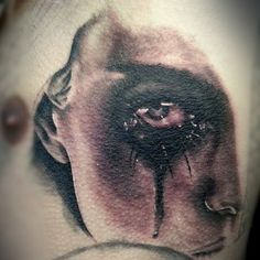 tear Teardrop Tattoo, Shape Tattoo, Tattoo Designs, Halloween Face Makeup, Tattoos, Tatuajes, Tattoo, Design Tattoos, Tattooed Guys