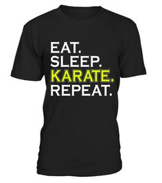 "# Eat Sleep Karate Repeat - Funny Sports Gift T-Shirt .  Special Offer, not available in shops      Comes in a variety of styles and colours      Buy yours now before it is too late!      Secured payment via Visa / Mastercard / Amex / PayPal      How to place an order            Choose the model from the drop-down menu      Click on ""Buy it now""      Choose the size and the quantity      Add your delivery address and bank details      And that's it!      Tags: Eat Sleep Karate Repeat - Funny…"