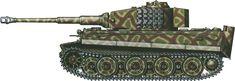 Tiger H/E camouflage patterns -  Holland, June 1944 sSS-PzAbt103