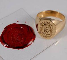 Royal Rings, Ring Bear, Wax Seals, Signet Ring, Band Rings, Crests, Earth, Space, Mens Pinky Ring