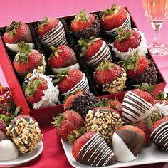 amuse-bouche facile sucré pour une garden-party: fraises au chocolat