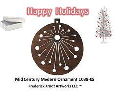 1038-5 Mid Century Modern Christmas Ornament