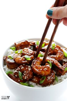 Easy Hoisin Shrimp by gimmesomeoven #Shrimp #Hoisin #Quick #Easy
