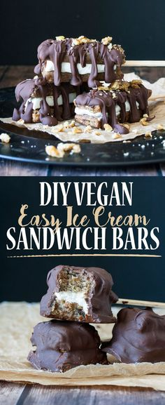 DIY Easy Vegan Ice Cream Sandwich Bars | www.veggiesdontbite.com | #vegan #glutenfree #diy #enjoylifefoods via @veggiesdontbite
