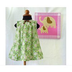 Green+Garden+Baby+Girl+Dress++Toddler+Dress++Baby+by+LoopsyBaby,+$28.00