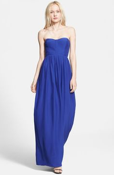 Parker 'Bayou' Strapless Silk Maxi Dress available at #Nordstrom