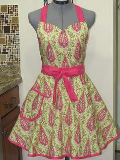 Sweetheart Hostess Apron Amy Butler Love by ApronsByVittoria, $36.75