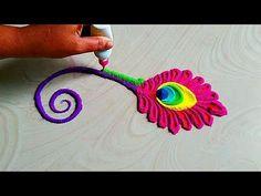 Ganesh chathurthi rangoli easy design by easy rangoli classes Rangoli Designs Latest, Rangoli Designs Flower, Rangoli Border Designs, Rangoli Ideas, Colorful Rangoli Designs, Rangoli Designs Diwali, Rangoli Designs Images, Beautiful Rangoli Designs, Ganesh Design