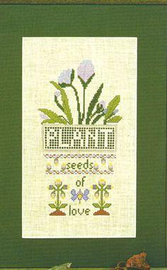 Seeds of Love Flowers Cross Stitch Pattern Garden Series Friends in Needlework #FriendsinNeedleworkGardenSeries