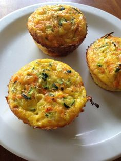 "Five Ingredient Zucchini ""Cupcakes"" (essentially crustless quiche)"