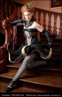 Glorious Octopus Corset Dress by Vecona. http://vecona.de