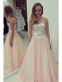 A-line Sweetheart off the shoulder prom dresses #SIMIBridal #promdresses