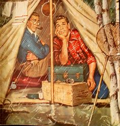 Image result for norman rockwell camping