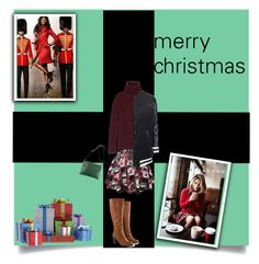 """""""merry christmas"""" by arishba on Polyvore featuring Burberry, CÉLINE, The Row, Topshop, Jilsen Quality Boots and Christmas"""